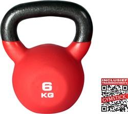 Kettlebell Pro 6 Kg Neopreen Met Trainingsvideo's