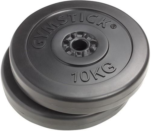 Gymstick Vinyl Halterschijven - 30 mm - 2 x 10 kg