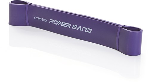 Gymstick Mini Power Band, Strong (paars) - Met Online Trainingsvideo's - Verpakking beschadigd