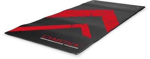 Gymstick Performance Mat - Fitnessmat - Zwart/Rood - 140 x 60 x 0,7 cm
