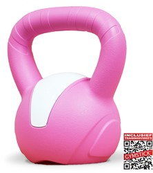 Gymstick Emotion Vinyl Kettlebell 8 kg - Met Online Trainingsvideo's