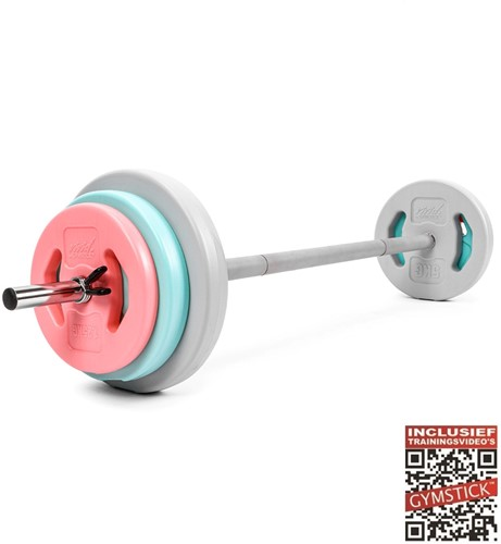Gymstick Vivid Pump Set - 20 kg - Met Online Trainingsvideo's