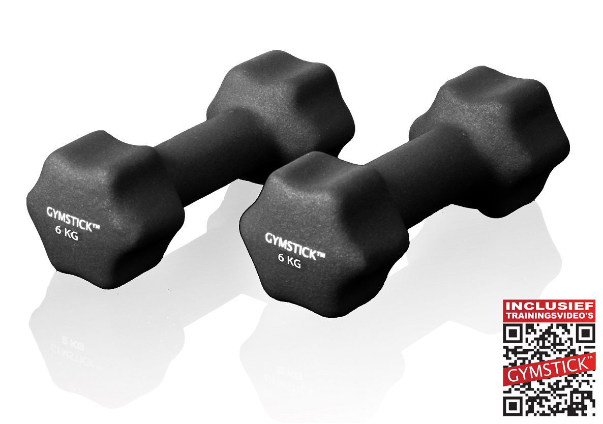 Gymstick dumbbell set (4 kg) + workout DVD