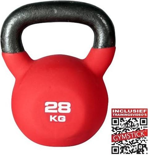 Gymstick Kettlebell Pro 28 Kg Neopreen Met Trainingsvideo's