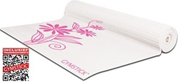 Gymstick emotion exercise mat pink/white - Met Draagband En Online Trainingsvideo's