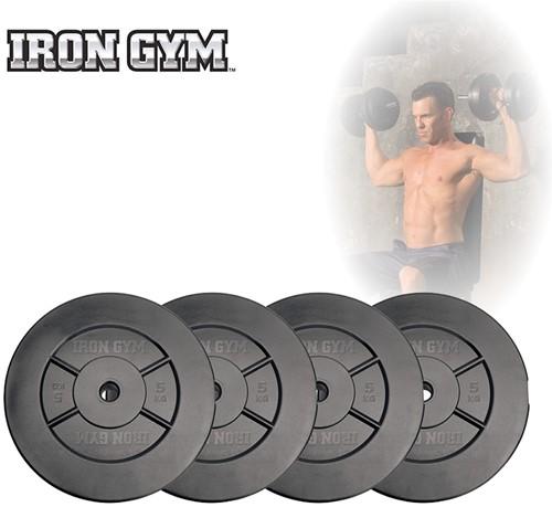Iron Gym 20 kg Schijven Set, 4 x 5kg - 25 mm
