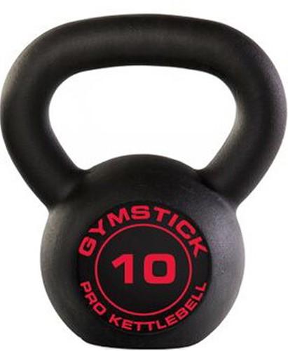 Gymstick Pro Neopreen Kettlebell - Zwart - Met Online Trainingsvideo's - 10kg