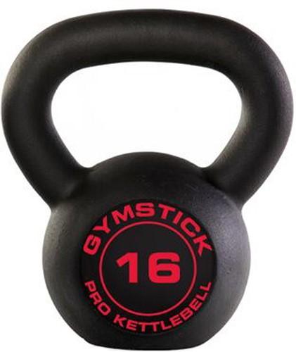 Gymstick Pro Neopreen Kettlebell - Zwart - Met Online Trainingsvideo's - 16kg