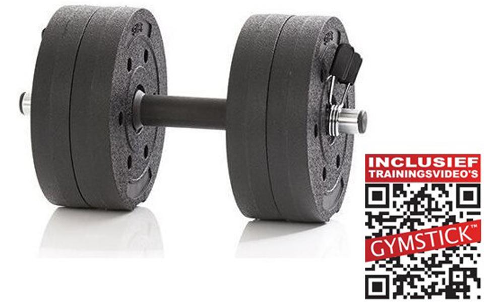 Gymstick Active Verstelbare Dumbbell Set - Vinyl - 10kg - Met Online Trainingsvideo's