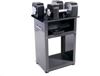 Ironmaster Quick-Lock Dumbbells 34 kg Met Rack-1