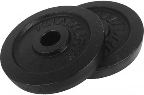 Tunturi Gietijzeren Halterschijf - 30 mm - 2 x 0,5 kg