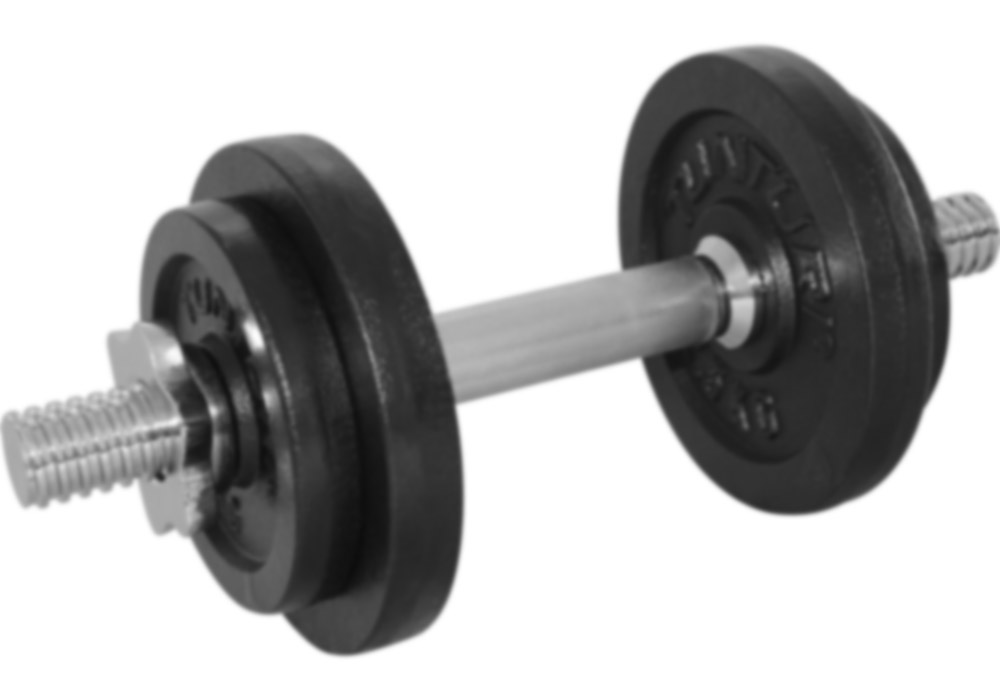 Tunturi-Bremshey Dumbbellset 10kg, Met 1 Bar Screw Set