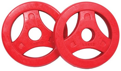 Tunturi Aerobic Schijven 1.25 kg Rubber (30 mm) 2 stuks