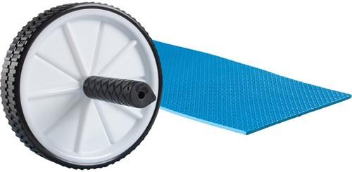 VirtuFit Dubbel Buikspierwiel - Ab Roller - Ab Wheel - met Mat