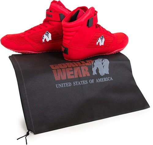 Gorilla Wear High Tops Red - White logo - Fitness Schoenen-3