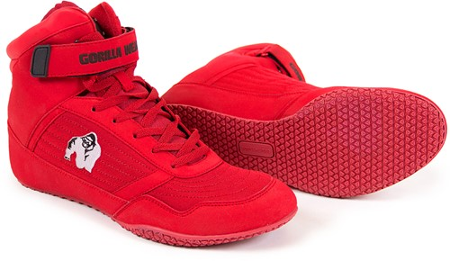 Gorilla Wear High Tops Red - White logo - Fitness Schoenen