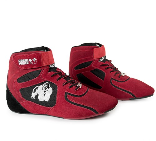"Gorilla Wear Chicago High Tops - Red/Black ""Limited""-3"