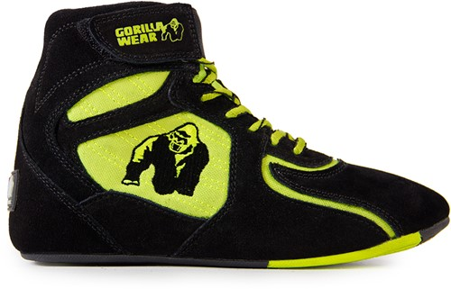 Gorilla Wear Chicago High Tops - Black/ Neon Lime Limited""""""""