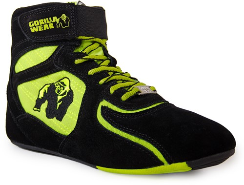 "Gorilla Wear Chicago High Tops - Black/ Neon Lime ""Limited""-2"