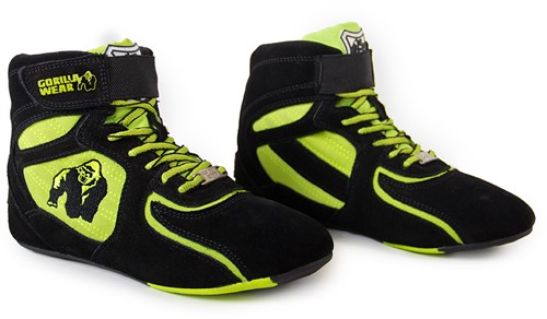 "Gorilla Wear Chicago High Tops - Black/ Neon Lime Limited""""""""-3"