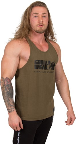 Gorilla Wear Classic Tank Top - Army Green-3