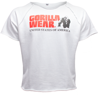 Gorilla Wear Classic Work Out Top - Wit