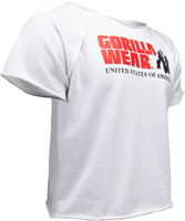 Gorilla Wear Classic Work Out Top - Wit-3