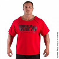 Gorilla Wear Classic Work Out Top Red-3