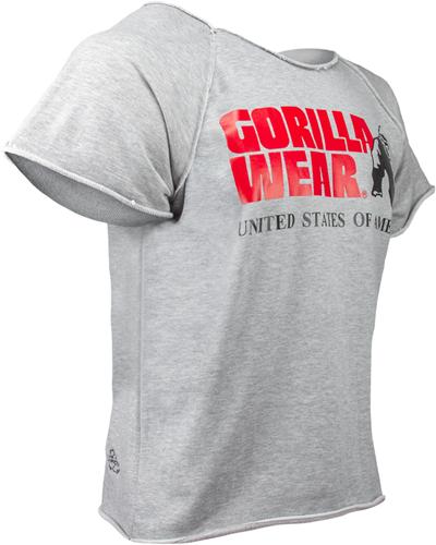Gorilla Wear Classic Work Out Top - Grijs-3