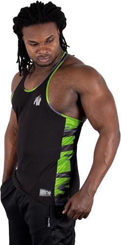 Gorilla Wear Sacramento Camo Mesh Tank Top - Black/Neon Lime-3