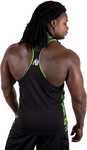 Gorilla Wear Sacramento Camo Mesh Tank Top - Black/Neon Lime-2