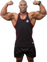 Gorilla Wear Sacramento Camo Mesh Tank Top - Black/Red-2