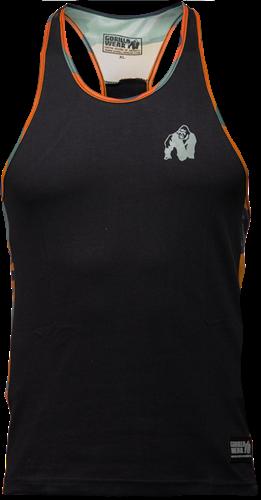 Gorilla Wear Sacramento Camo Mesh Tank Top - Zwart/Neon Oranje