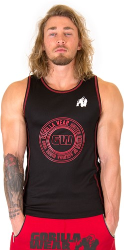 Gorilla Wear Kenwood Tank Top - Black/Red