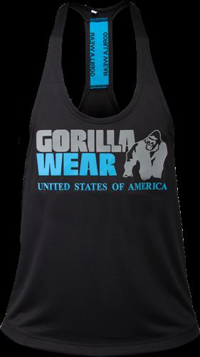Gorilla Wear Nashville Tank Top - Zwart/Lichtblauw