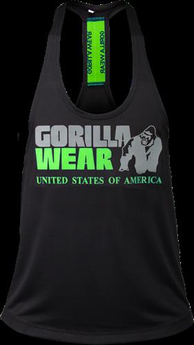 Gorilla Wear Nashville Tank Top - Zwart/Neon Lime