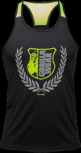 Gorilla Wear Lexington Tank Top - Zwart/Neon Groen