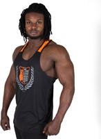 Gorilla Wear Lexington Tank Top - Black/Neon Orange-2
