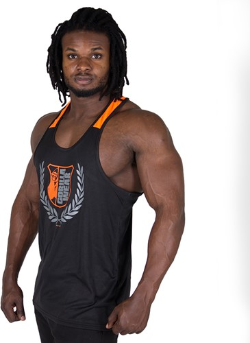 Gorilla Wear Lexington Tank Top - Black/Neon Orange-2