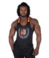 Gorilla Wear Lexington Tank Top - Black/Neon Orange