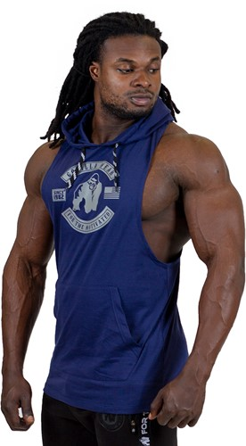 Gorilla Wear Lawrence Hooded Tank Top - Navy-2