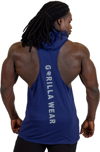 Gorilla Wear Lawrence Hooded Tank Top - Navy-3