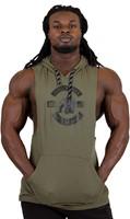 Gorilla Wear Lawrence Hooded Tank Top - Army Green-2