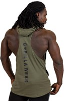 Gorilla Wear Lawrence Hooded Tank Top - Army Green-3