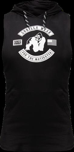Gorilla Wear Lawrence Hooded Tank Top - Zwart