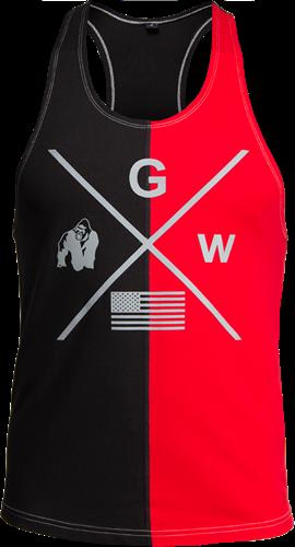 Gorilla Wear Sterling Tank Top - Zwart/Rood