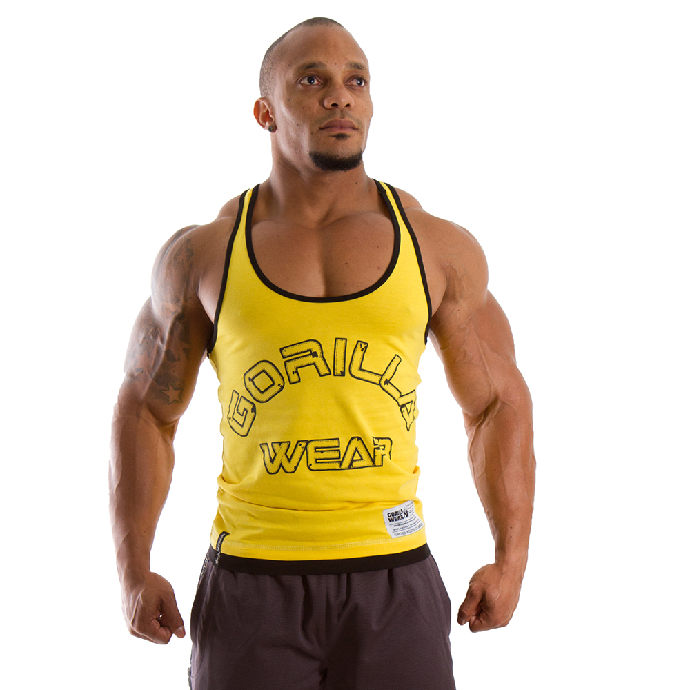 Gorilla Wear Stringer Tank Top Yellow - XXXL