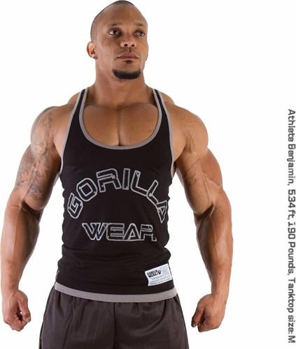 Gorilla Wear Stringer Tank Top - Zwart