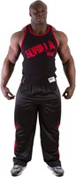 Gorilla Wear Stamina Rib Tank Top Black/Red-1