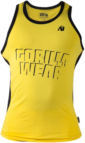 Gorilla Wear Stretch Tank Top Yellow-3